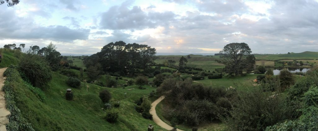 View of Hobbiton from Bag End