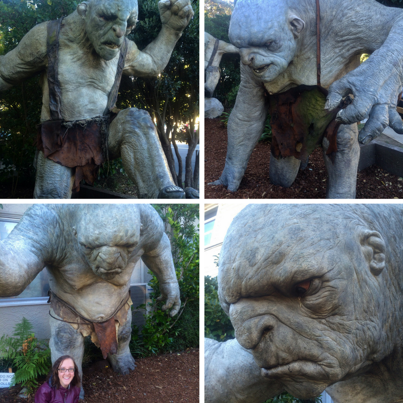 Trolls outside Weta Cave