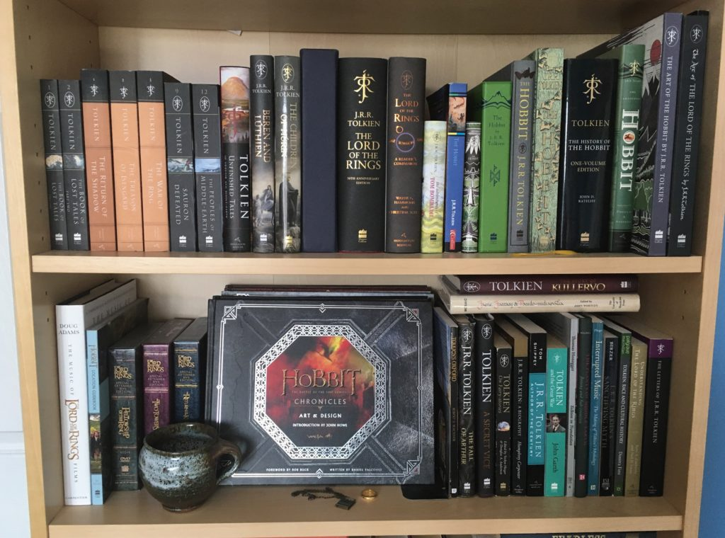 My two Tolkien shelves