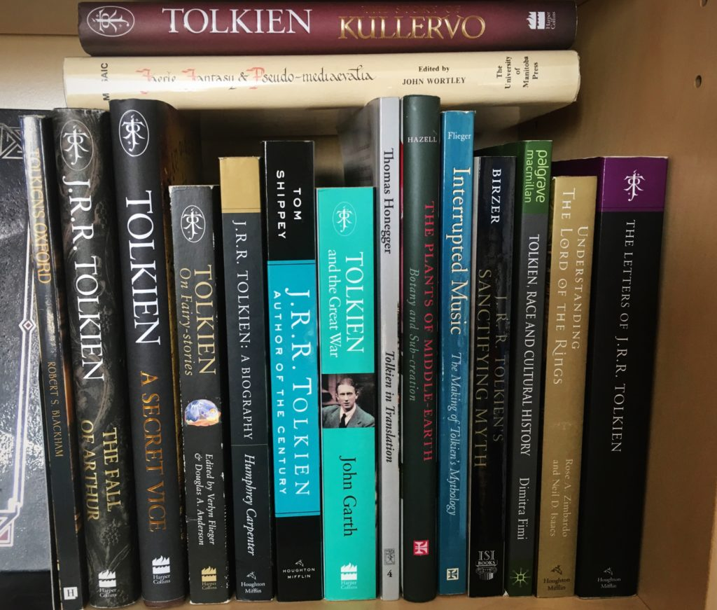 Mostly books about Tolkien