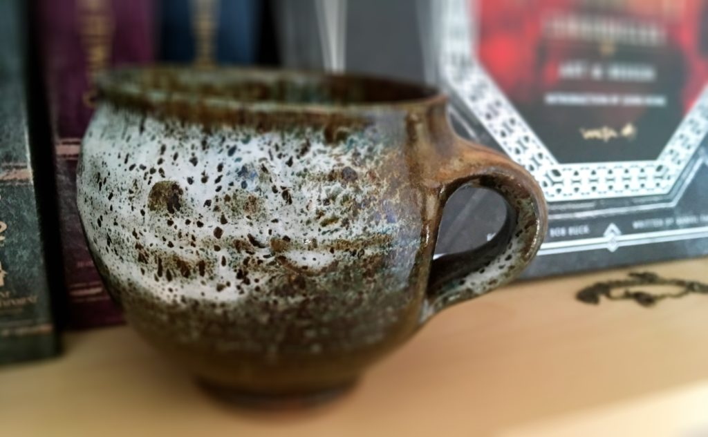 Mug I bought in New Zealand, to represent Middle-Earth